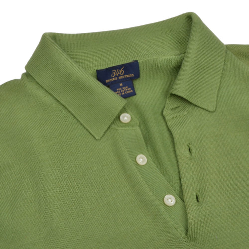 Brooks Brothers 346 Silk/Cotton Pullover - Green