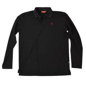Fjäll Räven Crowley Pique  Long Sleeved Shirt Size L - Black