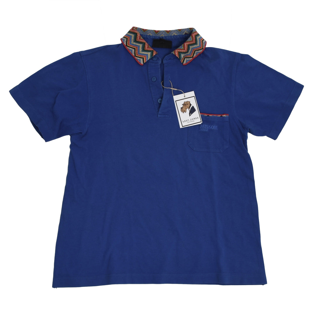 Vintage Missoni Mare Polo Shirt Size L - Blue