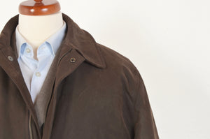L.B.M. 1911/Lubiam Waxed Jacket Size 52 - Brown