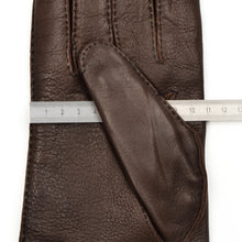 Load image into Gallery viewer, Wool-Lined Snap Out Deerskin Gloves Size 9 1/2 - Brown