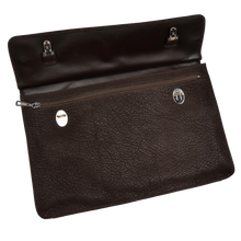 Load image into Gallery viewer, Double-Sided Water Buffalo Briefcase - Dark Brown