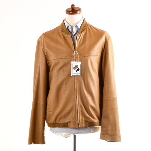 Strellson Leather Jacket Size 52 - Cognac Tan