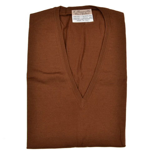 E. Braun & Co. Wool Sweater Vest Size XL - Tobacco Brown