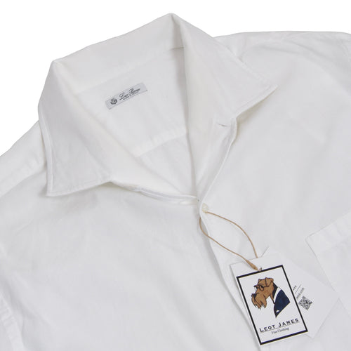Loro Piana One-Piece Collar Shirt Size XXL - White