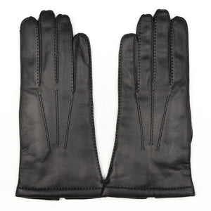 Lined Calfskin Gloves Size 8 1/2 - Black