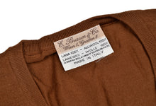 Load image into Gallery viewer, E. Braun & Co. Wool Sweater Vest Size XL - Tobacco Brown