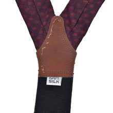 Load image into Gallery viewer, Classic 100% Silk Braces/Suspenders - Burgundy