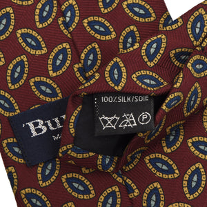 Burberrys London Neat Silk Tie - Burgundy