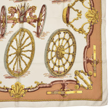 Load image into Gallery viewer, Hermès Paris Caty Latham Roues De Canon Silk Scarf