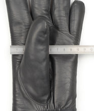 Load image into Gallery viewer, Shearling-Lined Lamb Nappa Gloves Size S - Grey