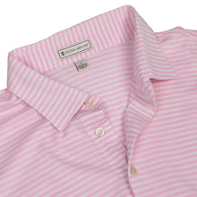 Load image into Gallery viewer, Peter Millar Polo Shirt Size L - Pink Stripes