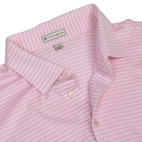 Peter Millar Polo Shirt Size L - Pink Stripes