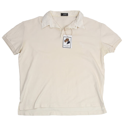 Gianni Versace Couture Polo Shirt Size 54 - Ecru
