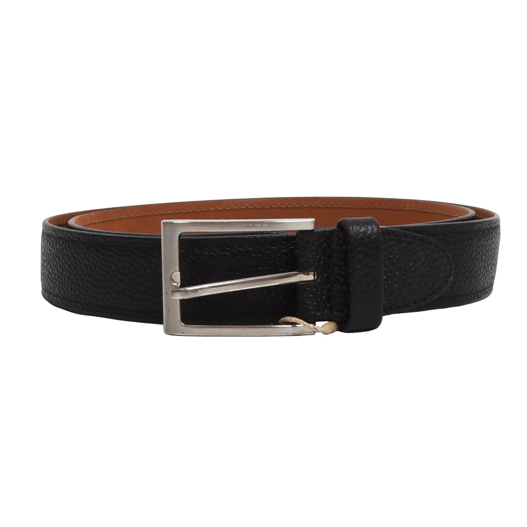 Ludwig Reiter Rembord Scotch Grain Leather Belt Size 95 - Black