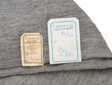 Load image into Gallery viewer, Wool Double-Breasted Waistcoat Sweater Vest by E. Braun & Co. XL - Grey