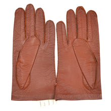 Load image into Gallery viewer, Unlined Vintage Leather Dress Gloves Size 8 3/4 - Rust