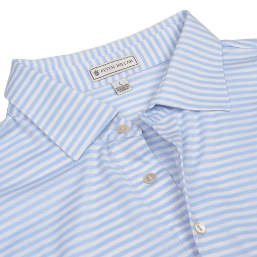 Peter Millar Polo Shirt Size L - Blue Stripes