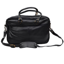 Load image into Gallery viewer, Leather Duffle/Weekender/Gym Bag - Black