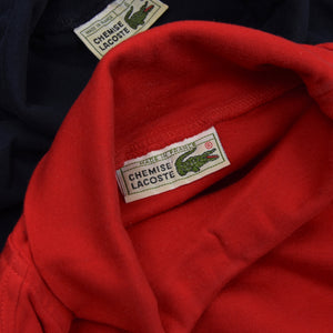 2x Vintage Lacoste Cotton Turtleneck Sweaters Size 6 - Red & Navy Blue