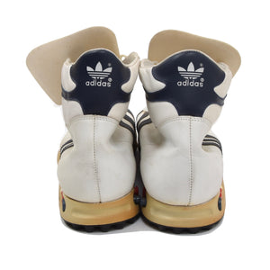 Vintage Adidas Jogging High Sneakers Size 12 - 47 1/3 - White/Navy