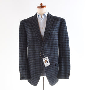 Mario Barutti Harris Tweed Jacket Size 30/50SH - Blue Plaid
