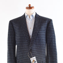Load image into Gallery viewer, Mario Barutti Harris Tweed Jacket Size 30/50SH - Blue Plaid