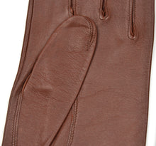 Load image into Gallery viewer, Unlined Calfskin Leather Dress Gloves Size 8 1/4 - Brown