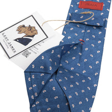 Load image into Gallery viewer, Isaia Napoli Silk Paisley Tie - Blue