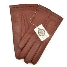 Load image into Gallery viewer, Dent's Lined Leather Gloves Size 8 1/2 - Rust