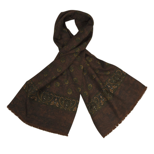 Anonymous Silk Dress Scarf - Brown Paisley