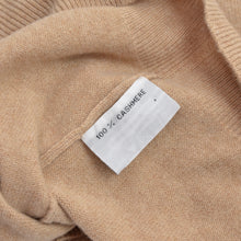 Load image into Gallery viewer, Max Calvin 100% Cashmere Polo Sweater Size L - Beige/Tan