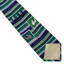 Load image into Gallery viewer, Pancaldi F Ewe Silk Tie - Green Stripe