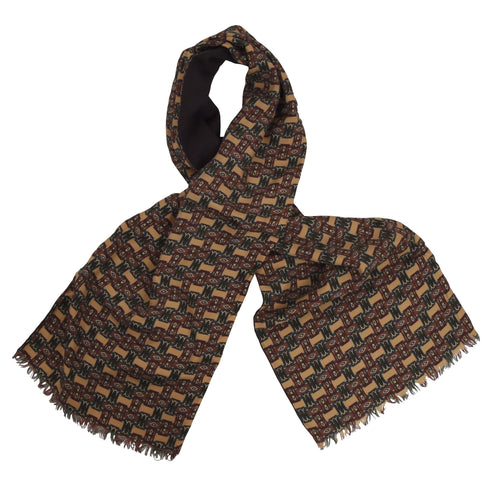 Trussardi Double-Sided Silk/Wool Dress Scarf