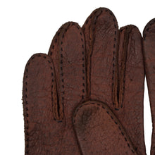 Load image into Gallery viewer, Unlined Peccary Gloves XS-S - Rust Brown