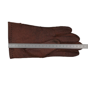 Unlined Peccary Gloves XS-S - Rust Brown