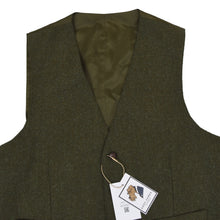 Load image into Gallery viewer, Walbusch Harris Tweed Waistcoat Size 52 - Green