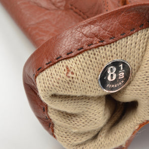 Dent's Lined Leather Gloves Size 8 1/2 - Rust