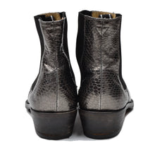 Load image into Gallery viewer, Helmut Lang Snakeskin Boots Size 6.5 - Grey/Silver