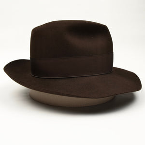Borsalino Felt Hat Size 57 - Chocolate Brown