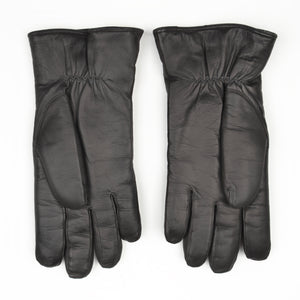 Shearling-Lined Lamb Nappa Gloves Size 8 1/2 - Black