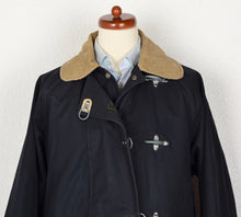 Load image into Gallery viewer, Fay Fireman's Canvas Coat Size L - Navy