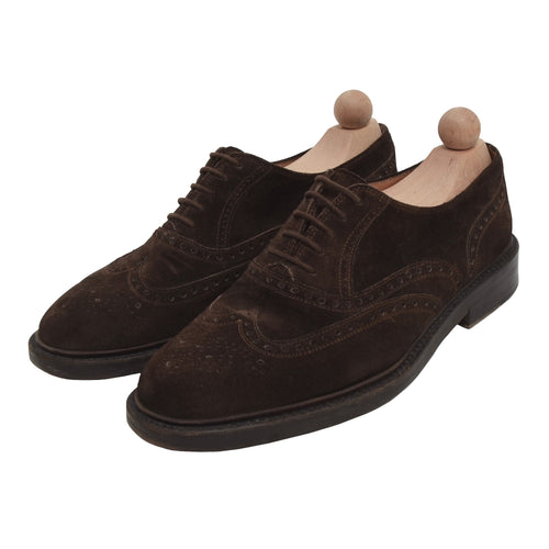 Vintage Hugo Boss Suede Shoes Size 8 - Chocolate Brown