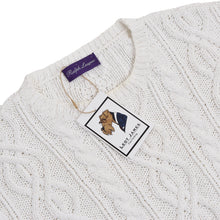 Load image into Gallery viewer, Ralph Lauren Purple Label Cableknit Sweater - White