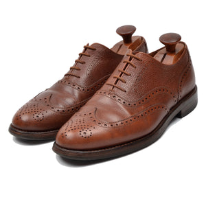 Crockett & Jones Cap Brogue Shoes Size 8.5 EE - Brown