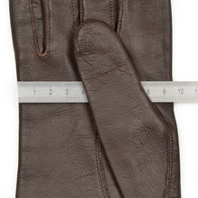 Load image into Gallery viewer, Wool-Lined Calfskin Gloves Size S - Brown