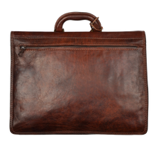 Load image into Gallery viewer, The Bridge Firenze Leather Briefcase/Business Bag - Brown 1