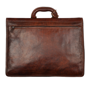 The Bridge Firenze Leather Briefcase/Business Bag - Brown 1