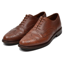 Load image into Gallery viewer, Crockett & Jones Cap Brogue Shoes Size 8.5 EE - Brown