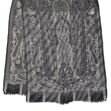 Load image into Gallery viewer, Etro Milano Paisley Scarf - Grey, Black, White
